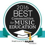 2016 Best Communities for Music Education Logo